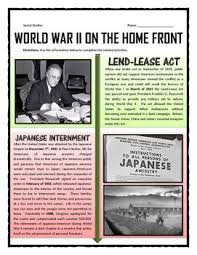 best world war two ww teaching resources images on world war ii home front reading questions and journal activity
