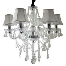 6 Flammig Mit Lampenschirm Transparent Kristall Klassisch Kronleuchter Pendelleuchte Deckenleuchte Antik Kristall Lüster E14 Hängeleuchte
