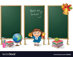 Image And Girl Board Banners School Vertical Vector