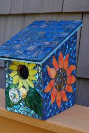 mosaic glass bird feeder unique 171 best mosaic birdbaths birdhouses images on