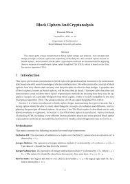 Block Cipher Design Principles Pdf Block Ciphers And Cryptanalysis