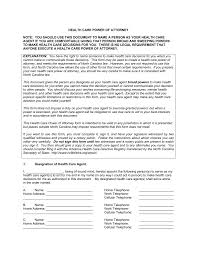 Health Care Power Of Attorney Form Free North Carolina Health Care Power Of Attorney Form Word PDF 4