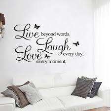 live love laugh letters wall stickers removable environmental pvc home decor transp waterproof vinyl wall sticker