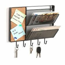 wall mount mail and key rack holder