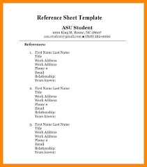 Resume With Reference 8 9 Example Of A Reference Page Resume