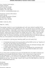 Examples Of Good Cover Letters For Resumes Adorable Cover Letter For Teaching Positions Substitute Teacher Resume