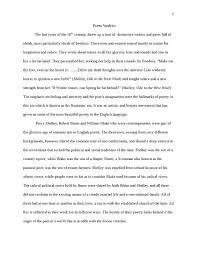 Poem Theme Examples Poem Analysis Essay Poem Analysis Essay Example
