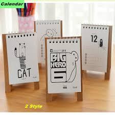 cartoon calendar 2016 mini table calendario cute cat baymax standing desk calendars planner diy desktop diary