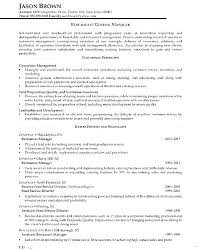 Restaurant General Manager Resume Examples Sample For Resumes Fascinating Restaurant General Manager Resume