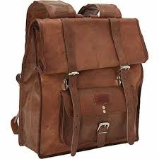 sharo leather bags large roll up backpack brown