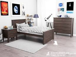 chocolate brown bedroom furniture. Hardwood Single Size Bed Frame Modern With Brown Timber Stain Childrens Beds Kids Bedroom Furniture Chocolate O