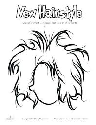 Hair Coloring Pages Hair Coloring Page Adult Coloring Pages Hair