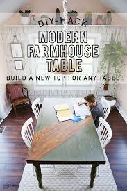 modern farmhouse table diy