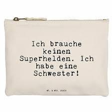 M Schminktasche Schwester Spruch Schwester Geschenk Geburtstag