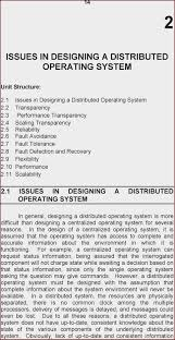 Os Design Issues Design Issues Of Distributed Operating System Pdf At Manuals
