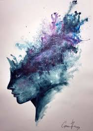 water painting ideas luxury watercolor abstract portrait universal mind