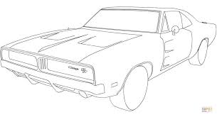 Small Picture 1969 Dodge Charger RT coloring page Free Printable Coloring Pages