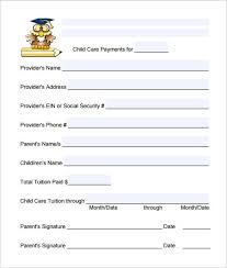 Child Care Receipt Daycare Receipt Template 12 Free Word Excel Pdf Format Download