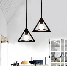 modern hanging lighting. aliexpresscom buy simple color loft lamp edison bulb modern pendant light fixtures creative triangle hanging for dining room indoor lighting from a