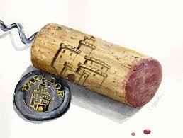Watercolor Painting - Parador Wine Cork by Sheryl Heatherly Hawkins