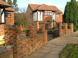 Small Picture Stylish Front Garden Brick Wall Designs Brick Garden Wall Designs