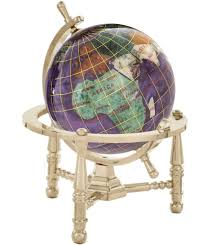 gemstone globe opalite ocean with nautical 3 leg stand wayfair