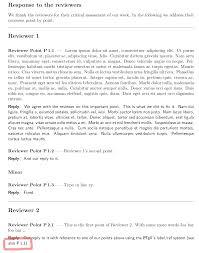 Latex Rebuttalresponse To Reviewers Template Friedemann Zenke