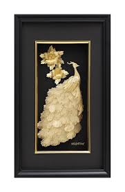 24K Gold Foil 3D Peacock Home Decor - QBestGold Gift