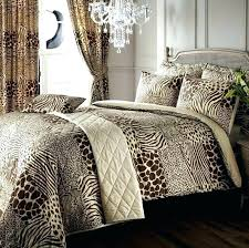 animal print bedding sets with curtains safari animal print super king duvet cover curtains regarding leopard