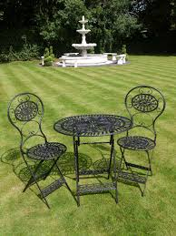 metal garden furniture sets uk. 1556. stylish 3 piece bistro style garden furniture set. metal sets uk