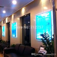 poster frame large size wall mount acrylic poster frame led edge lit advertising display light box