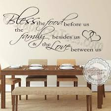 bless the food before us family wall sticker quote kitchen dining room home vinyl mural decals on vinyl wall art quotes for kitchen with bless the food before us family wall sticker quote kitchen dining