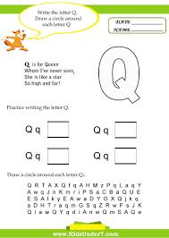 Letter Q Worksheet - Great website for preschool worksheets