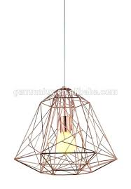cage light shade new design diamond shaped cage copper lamp shade wire industrial cage pendant light