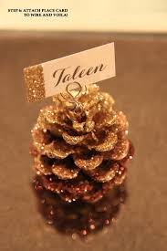 fall wedding place card holders. simple little details: diy glitter pine cone place card holder. diy wedding cardsfall fall holders w