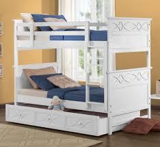 Kids Bunk Bed Bedroom Sets Homelegance Sanibel 3 Piece Bunk Bed Kids Bedroom Set In White