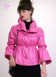 gretel las pink designer leather jackets from our