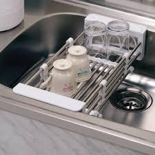 Kitchen Sink Drain Rack Kitchen Sink Dish Rack Stainless Steel Best Kitchen Ideas 2017