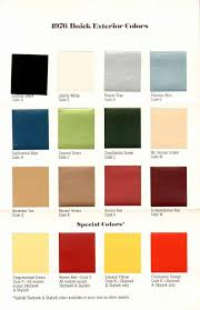 1976 Buick Exterior Color Chart Note All The Nods To The