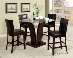 modern dining room with dark espresso upholstered counter height dining table set manhattan dark cherry