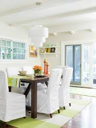fresh green and white dining room