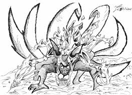 Naruto Nine Tails Coloring Pages Murderthestout