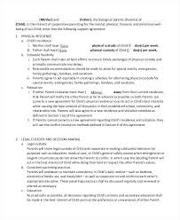 Informal Child Support Agreement Template Website Contract