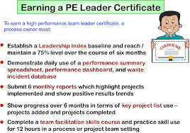 personal kaizen great systems example process excellence leader certificate criteria