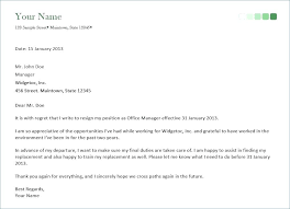 Bistrun : Resign Letter Example Resign Letter Sample Month Month ...
