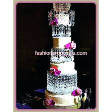 3 tier wedding cake stand wedding crystal cake stand 3 tier crystal cake with a crystal fountain topper with a beautiful dome on top with led lights