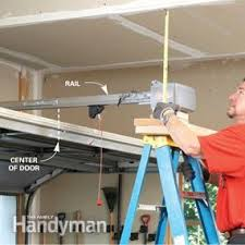 how to adjust garage door openerHow to Install a Garage Door Opener  Family Handyman