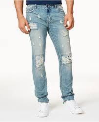 Mens Vintage Wash Distressed Jeans Created For Macys