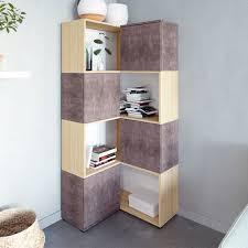 Libreria Ad Angolo Design Libreria Angolare Angle In Cemento Ed Essenza Rovere
