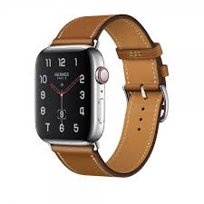 apple watch hermès series 4 40mm gps cellular stainless steel case with fauve barenia leather